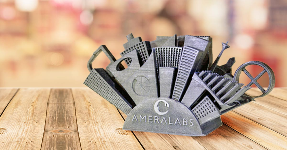 AmeraLabs Town 3D printer test part for SLA 3D printers