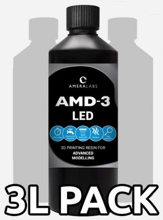 AMD-3 LED advanced modelling 3D printing resin 3 liters 6 bottles pack