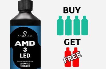 AMD-3 UV LED resin for advanced modelling 6 bottles - 3 liters pack offer