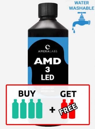 AMD-3 UV LED resin for advanced modelling 6 bottles - 3 liters pack offer