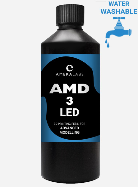 AMD-3 LED UV water washable fast curing resin for advanced modelling