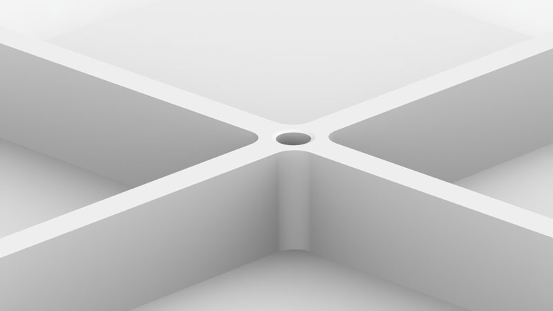 AmeraLabs 3D design guide ribs intersection