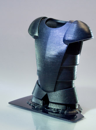 AmeraLabs AMD-3 UV LED resin at 50 µm layer height. Model: Chess piece Armor by SK'Avius' (https://skaviusportfolio.com). Printed by AmeraLabs.