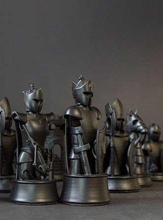 AmeraLabs AMD-3 LED 3D printed custom chess set