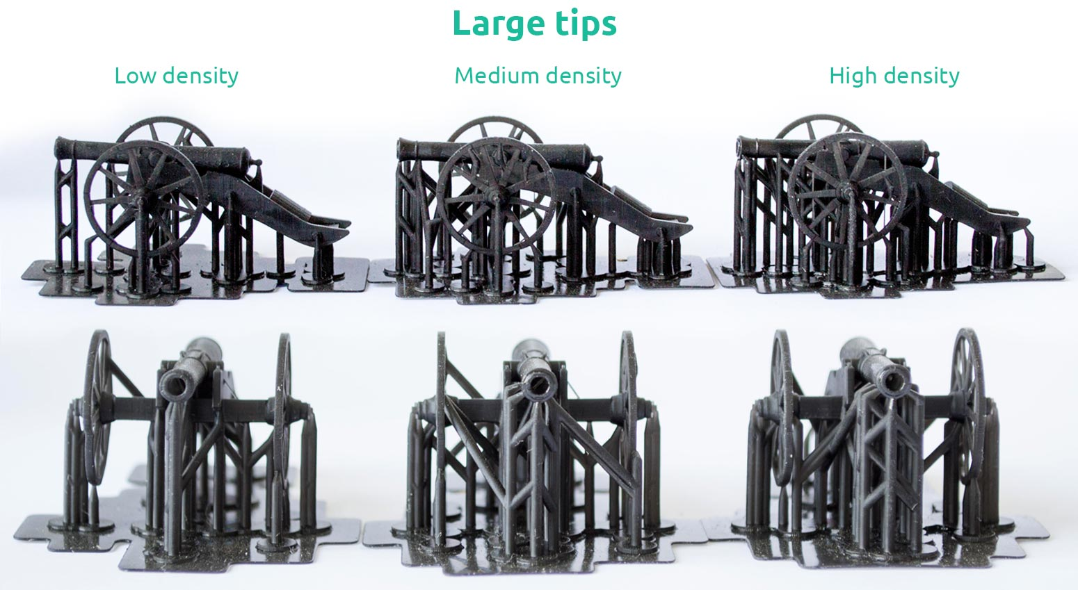 AmeraLabs key principles of 3D printing supports that work experiment cannon large tips