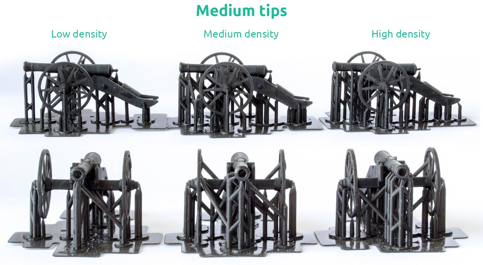 AmeraLabs key principles of 3D printing supports that work experiment cannon medium tips