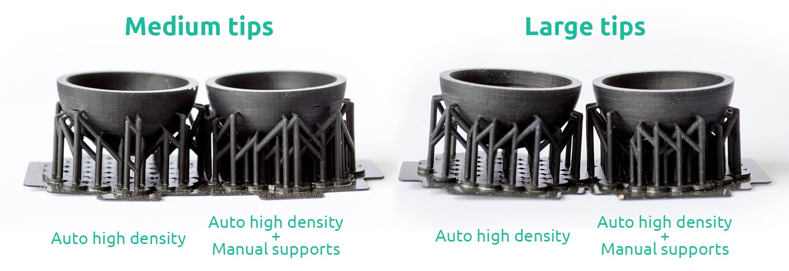 AmeraLabs key principles of 3D printing supports that work experiment sphere medium large tips