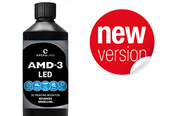 AmeraLabs new amd-3 led resin version for 3D printing