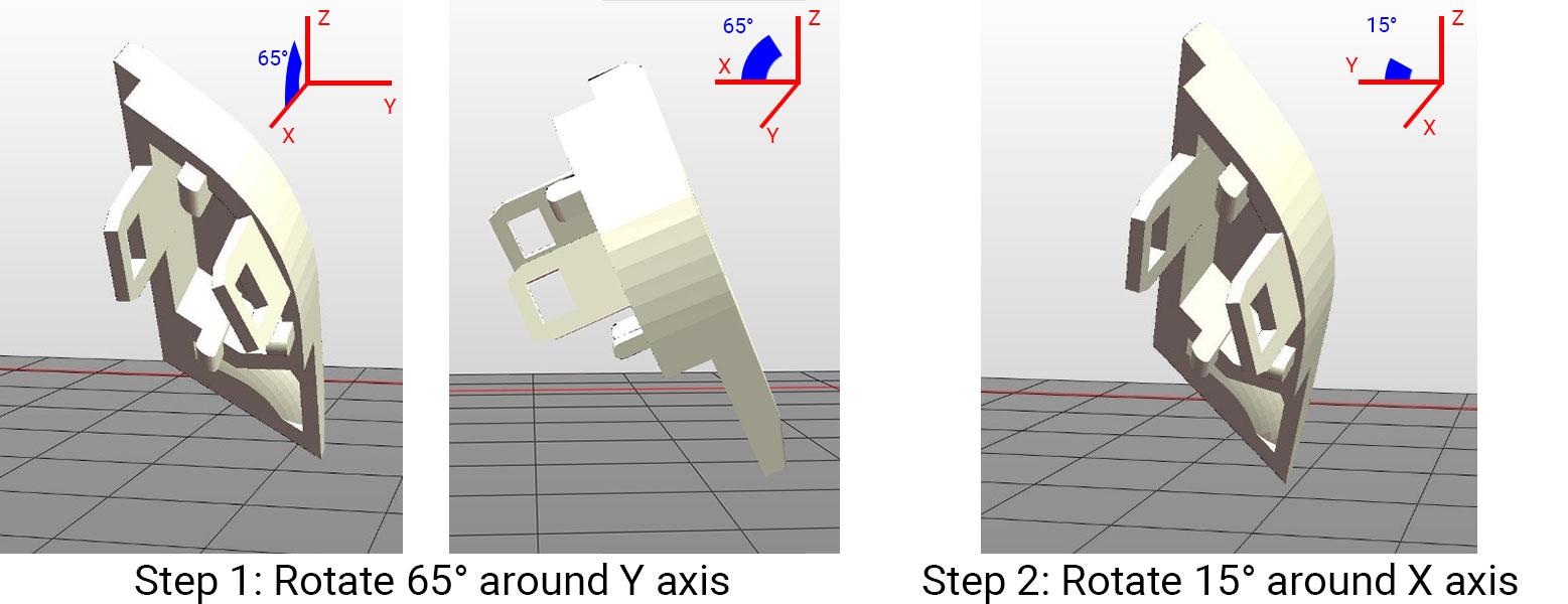 resin 3D printing button orientation