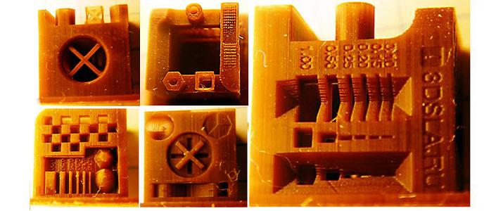 3D SLA test cube